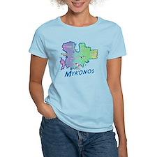 mykonos_t_shirt_map T-Shirt