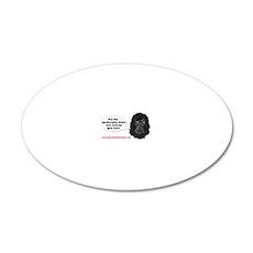 gorilla-mask-art website 20x12 Oval Wall Decal