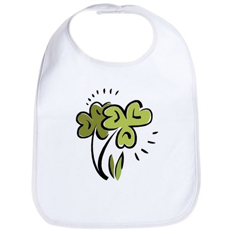 Shamrocks Illustration Bib