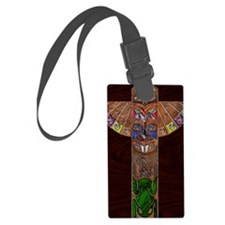 TotemPoleArt-xb 9 x 12 edit Luggage Tag