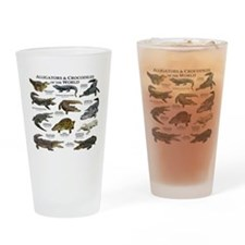 Alligator & Crocodiles of the World Drinking Glass