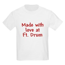 Made with love - Drum Kids T-Shirt