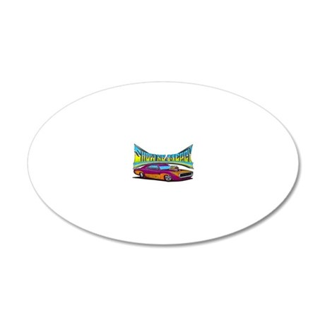 1970_dodge_charger 20x12 Oval Wall Decal