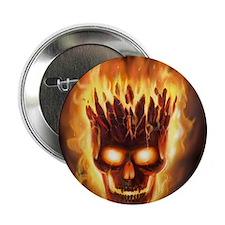 "skull bonies head explodes wide 2.25"" Button"