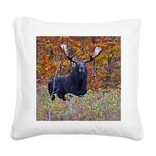 Big Bull Moose Square Canvas Pillow