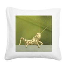 grasshopper 1 Square Canvas Pillow