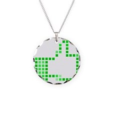 facebook like green Necklace