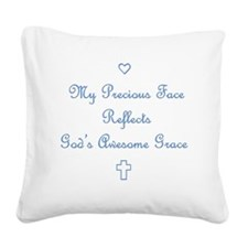 My Precious Face Blue copy Square Canvas Pillow