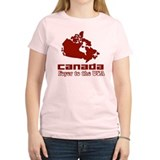 Canada: Foyer to the USA Women's Pink T-Shirt