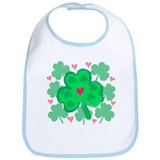Shamrocks & Hearts Bib