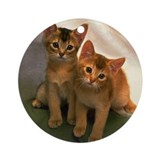 Twin Kittens Ornament (Round)