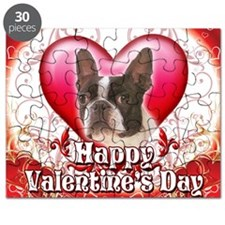 Happy Valentines Day Boston Terrier Puzzle