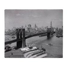 Brooklyn Bridge and Skyline, 1920 Throw Blanket