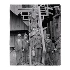 Coal Breaker Boys, 1900 Throw Blanket