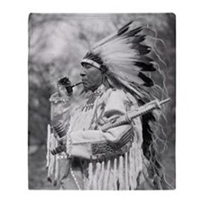 Indian Chief Whirlwind Soldier Throw Blanket