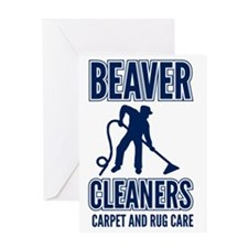 beaver cleaners blue Greeting Card