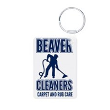 beaver cleaners blue Keychains