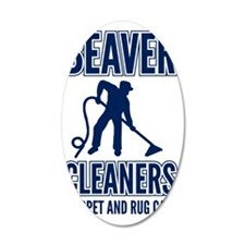 beaver cleaners blue Wall Decal