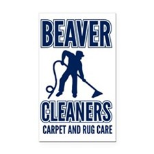 beaver cleaners blue Rectangle Car Magnet