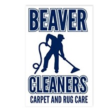 beaver cleaners blue Postcards (Package of 8)