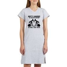 dirty sanchez black Women's Nightshirt