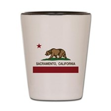 california flag sacramento Shot Glass