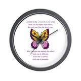A Child Is Like a Butterfly-  Wall Clock