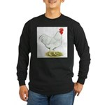 White Rooster Long Sleeve Dark T-Shirt