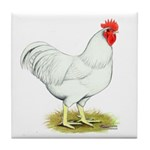 White Rooster Tile Coaster