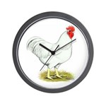 White Rooster Wall Clock