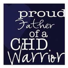 "proud father copy Square Car Magnet 3"" x 3"""
