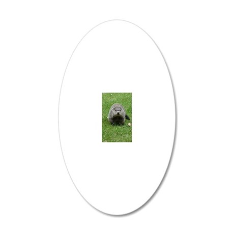GrHog7.5x9.5 20x12 Oval Wall Decal