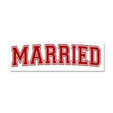 MARRIEDRED Car Magnet 10 x 3