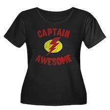 Captain  Women's Plus Size Dark Scoop Neck T-Shirt