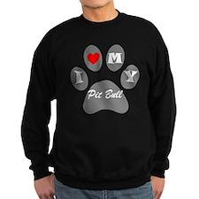 I Heart My Pit Bull Sweatshirt
