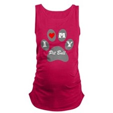I Heart My Pit Bull Maternity Tank Top