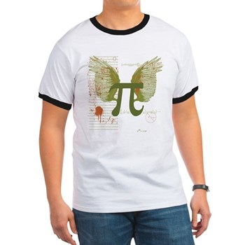 Winged Pi Ringer T | Gifts For A Geek | Geek T-Shirts