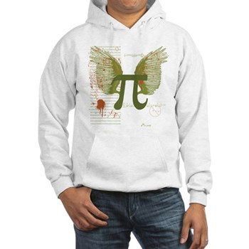Winged Pi Hooded Sweatshirt | Gifts For A Geek | Geek T-Shirts