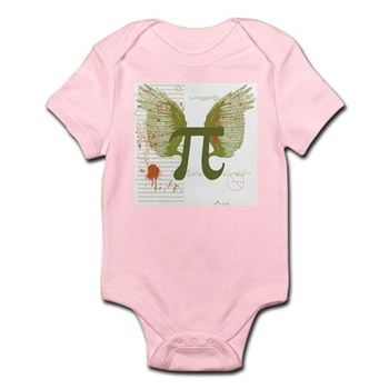 Winged Pi Infant Bodysuit   Gifts For A Geek   Geek T-Shirts