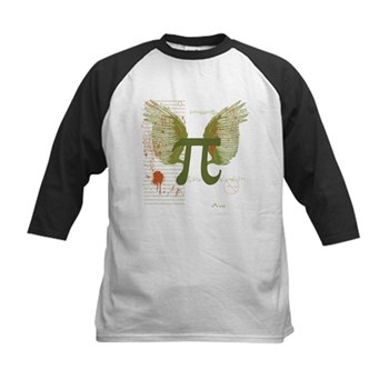 Winged Pi Kids Baseball Jersey | Gifts For A Geek | Geek T-Shirts