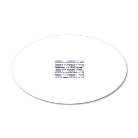 NetworkImage 20x12 Oval Wall Decal