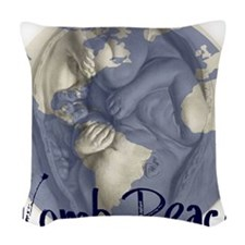 wombpeace2 Woven Throw Pillow