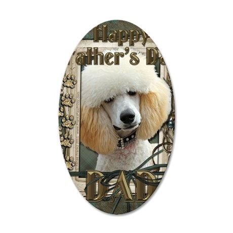 Stone_Paws_Poodle_Apricot_Da 35x21 Oval Wall Decal