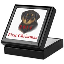 2013 First Christmas Rott Pup Keepsake Box