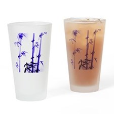 chinese-painting_bamboo_blue Drinking Glass
