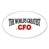 """The World's Greatest CFO"" Oval Decal"