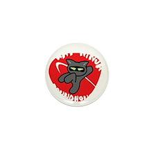 Black-T Kat Ninja Roundhouse Mini Button