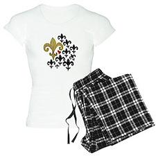 Gold  Black fleur de lis pa pajamas