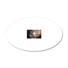 dachshund zodiac 12x16 copy 20x12 Oval Wall Decal