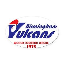 Birmingham Vulcans (on black) High Oval Car Magnet